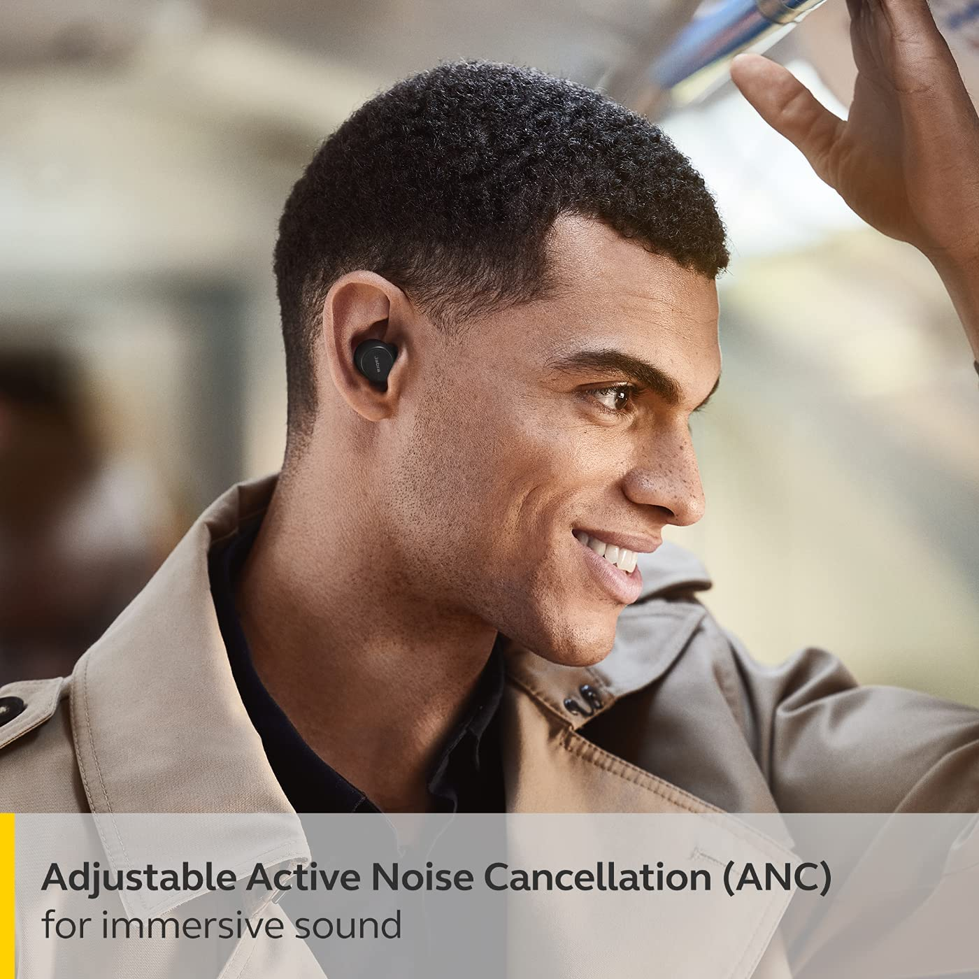 Jabra Elite 7 Pro In Ear Bluetooth Earbuds - Adjustable Active Noise Cancellation True Wireless Buds in a compact design with Jabra MultiSensor Voice Technology for Clear Calls - Black