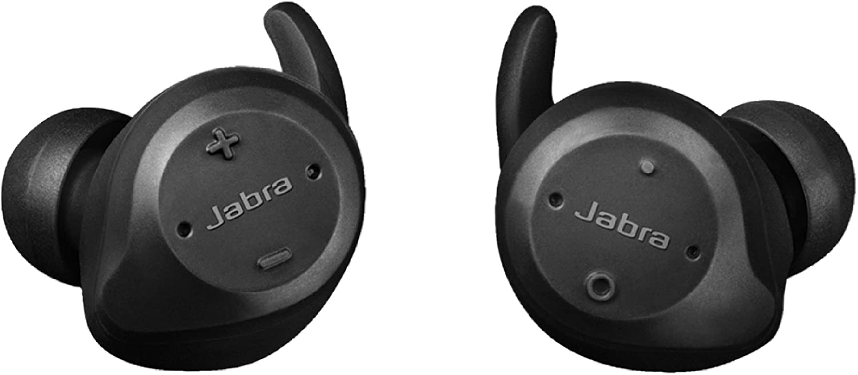 Jabra Elite Sport Water Proof True Wireless with Heart Rate & Activity Tracker Earbuds - Black