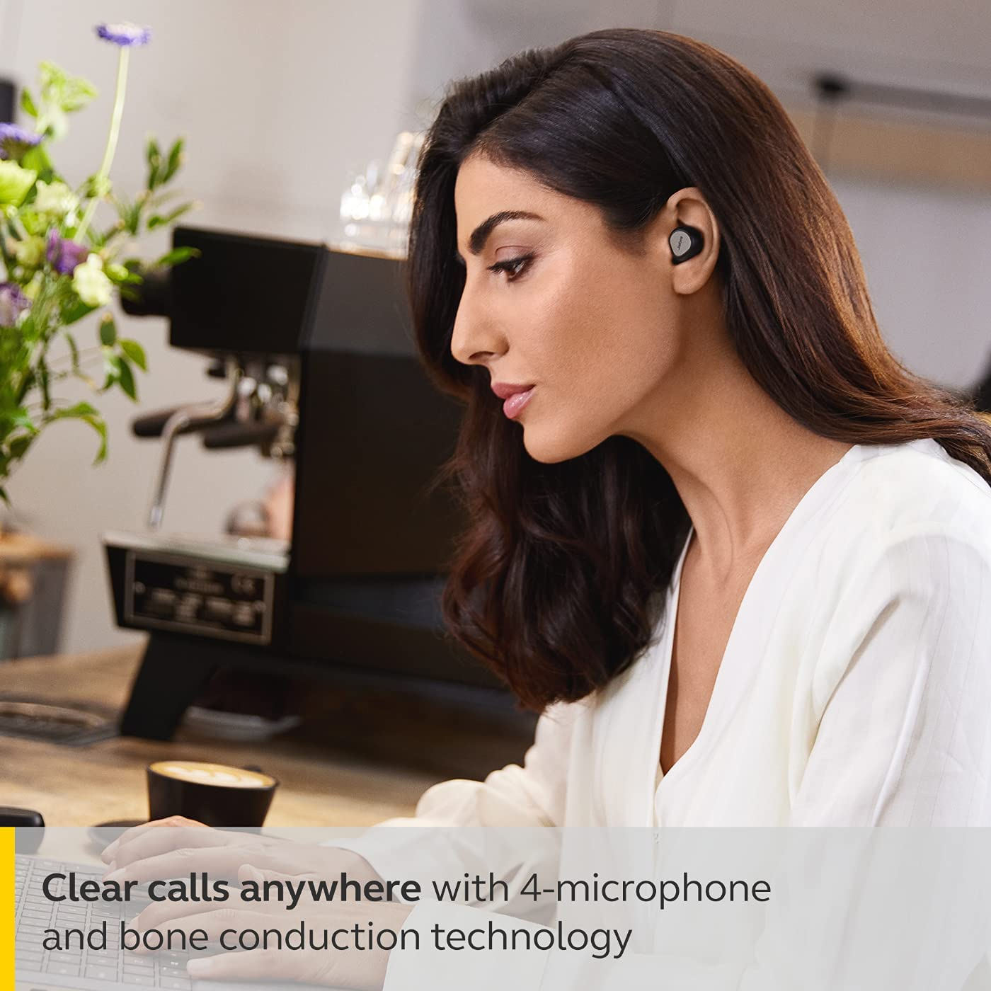 Jabra Elite 7 Pro In Ear Bluetooth Earbuds - Adjustable Active Noise Cancellation True Wireless Buds in a compact design with Jabra MultiSensor Voice Technology for Clear Calls - Titanium Black