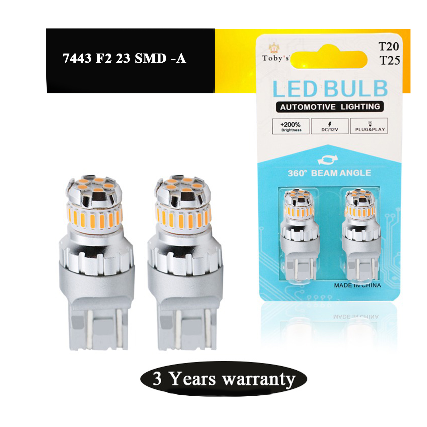 7443 F2 23 SMD -A LED replacement bulbs are engineered for superior performance