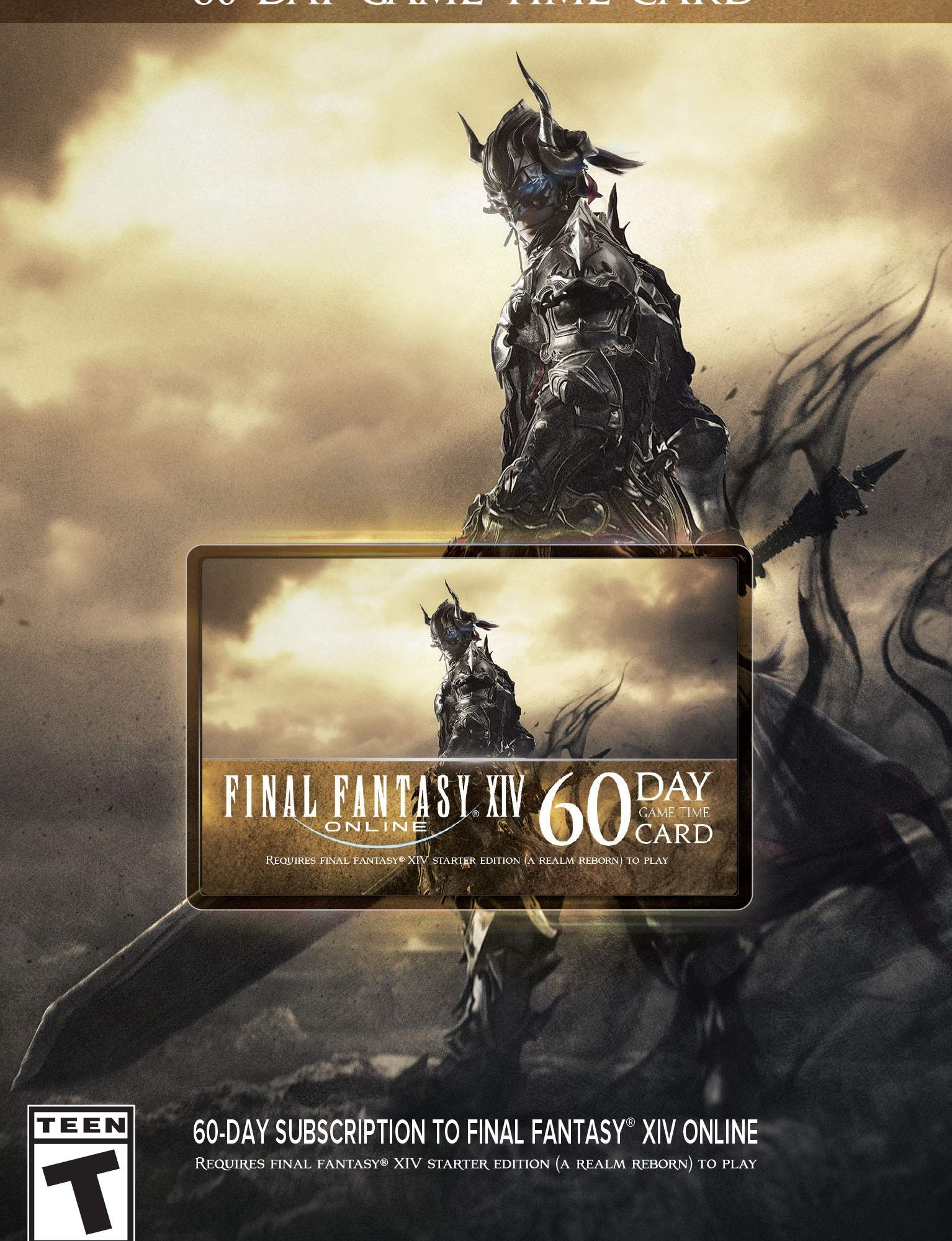 Final Fantasy XIV Online: 60 Day Time Card [Online Game Code] - Email Delivery