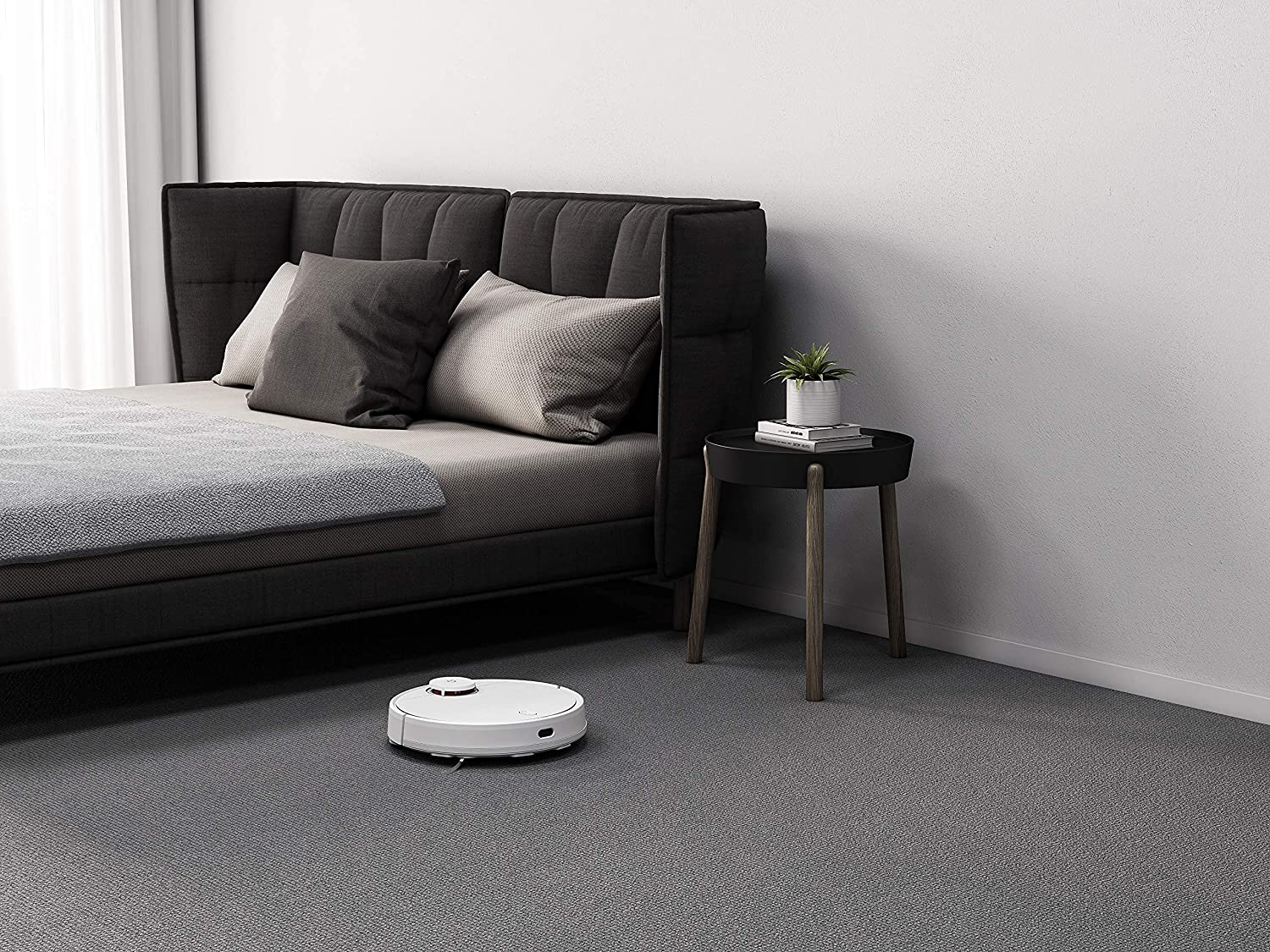 Xiaomi Mi Robot Vacuum Cleaner 2 in 1 Mop-P [Vacuum] Sweep & Mop, Auto-Cleaning Expert, Intelligent Control, Water Tank, 3 Cleaning Modes, Smart Navigation - Works with Google Assistant, Alexa - White