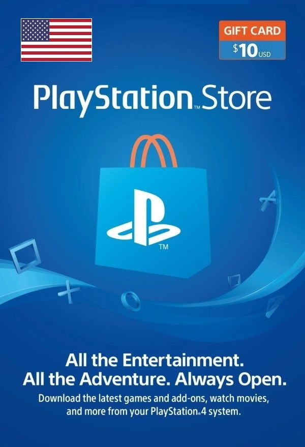 PlayStation Network Topup Wallet 10 USD Card - Physical Delivery