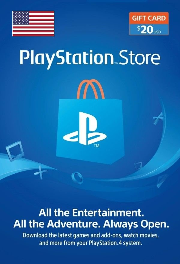 PlayStation Network Topup Wallet 20 USD Card - Physical Delivery