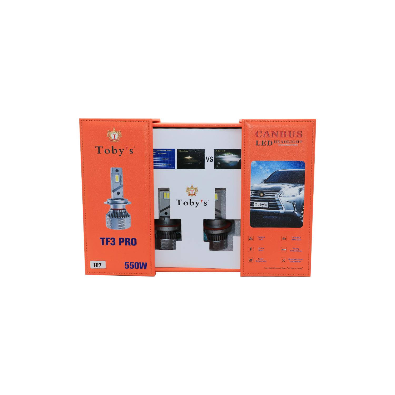 TF3-PRO H7 LED Headlight Bulbs 550W, 6500K, ZES Technology, Conversion KIT