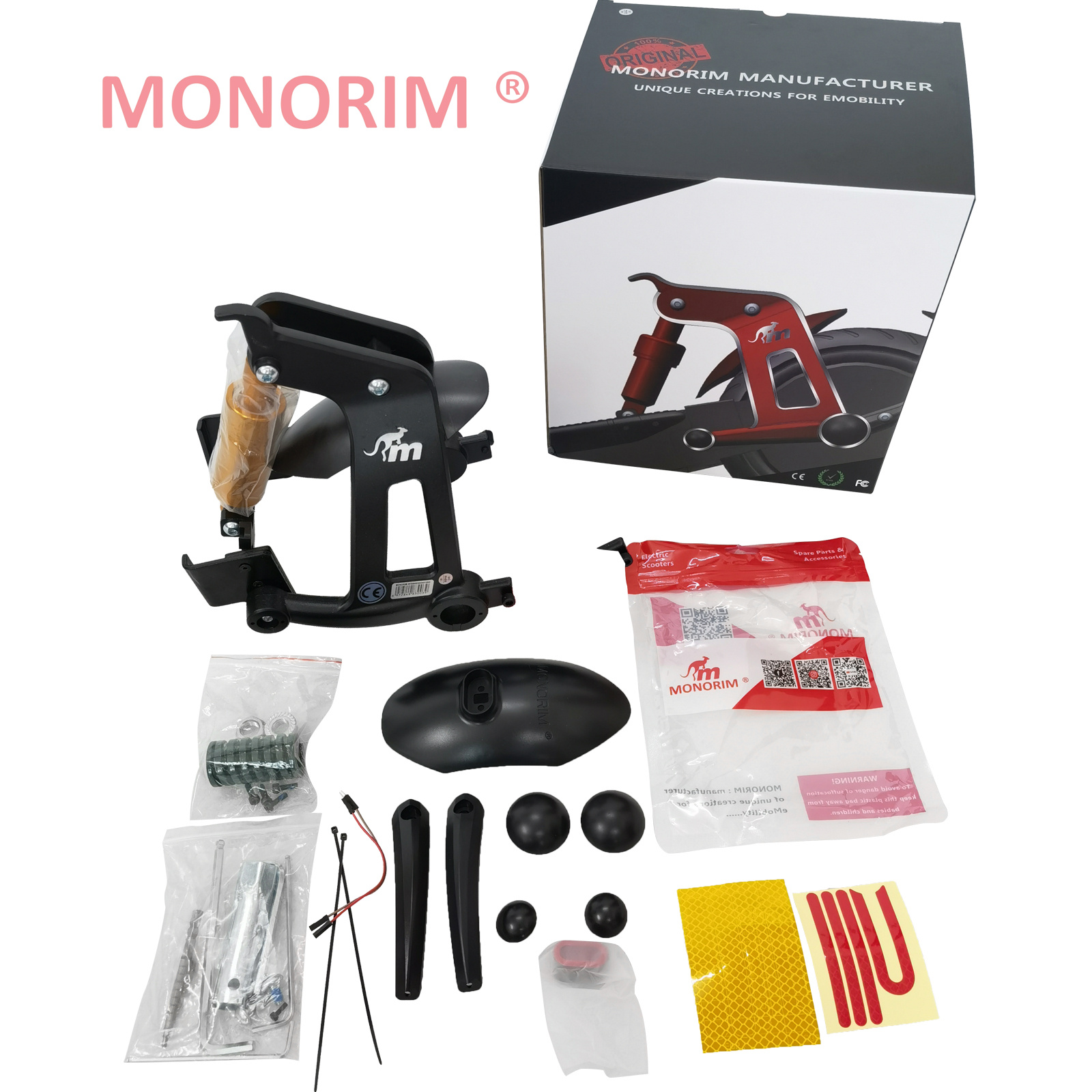 Monorim MXR1 Rear Suspension Kit v4.0 for Segway MAX G30 Specially for 8.5inch 10inch Parts Accessories