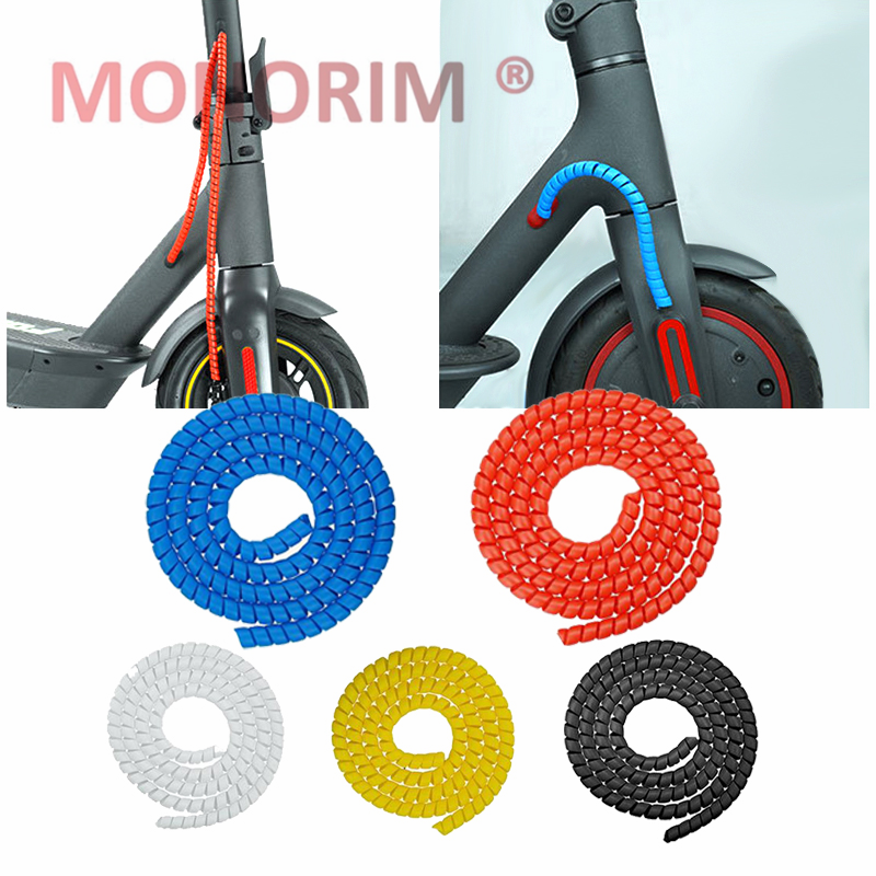 Monorim M365 Pro S1 Pro2 Max G30 Scooter Bicycle Accessories Car Line Protector Cover Cable Tube 1m Long Winding Tube - Red