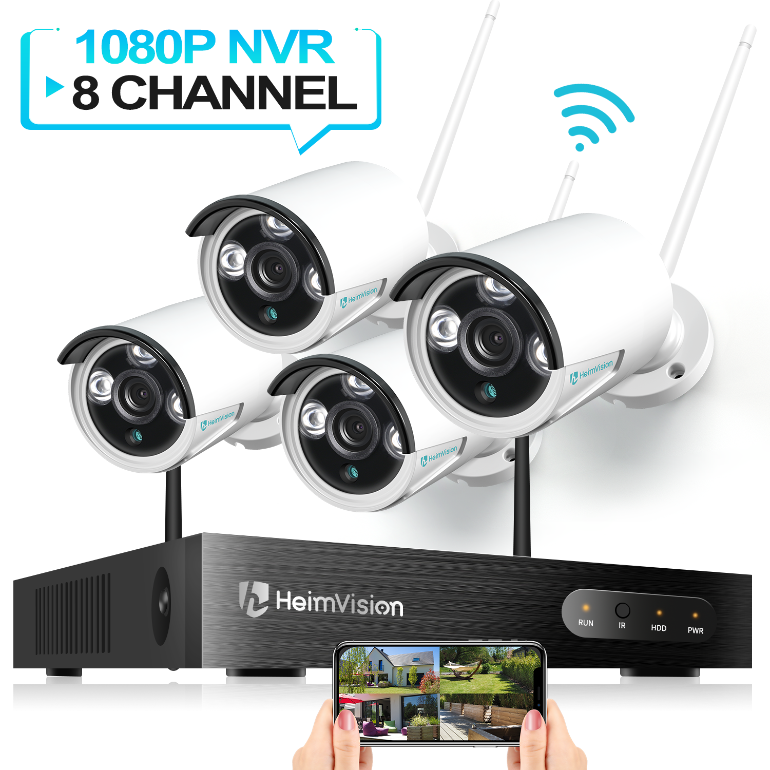 Heimvision HM241 Outdoor Camera Full HD Wifi Motion Detection Security System