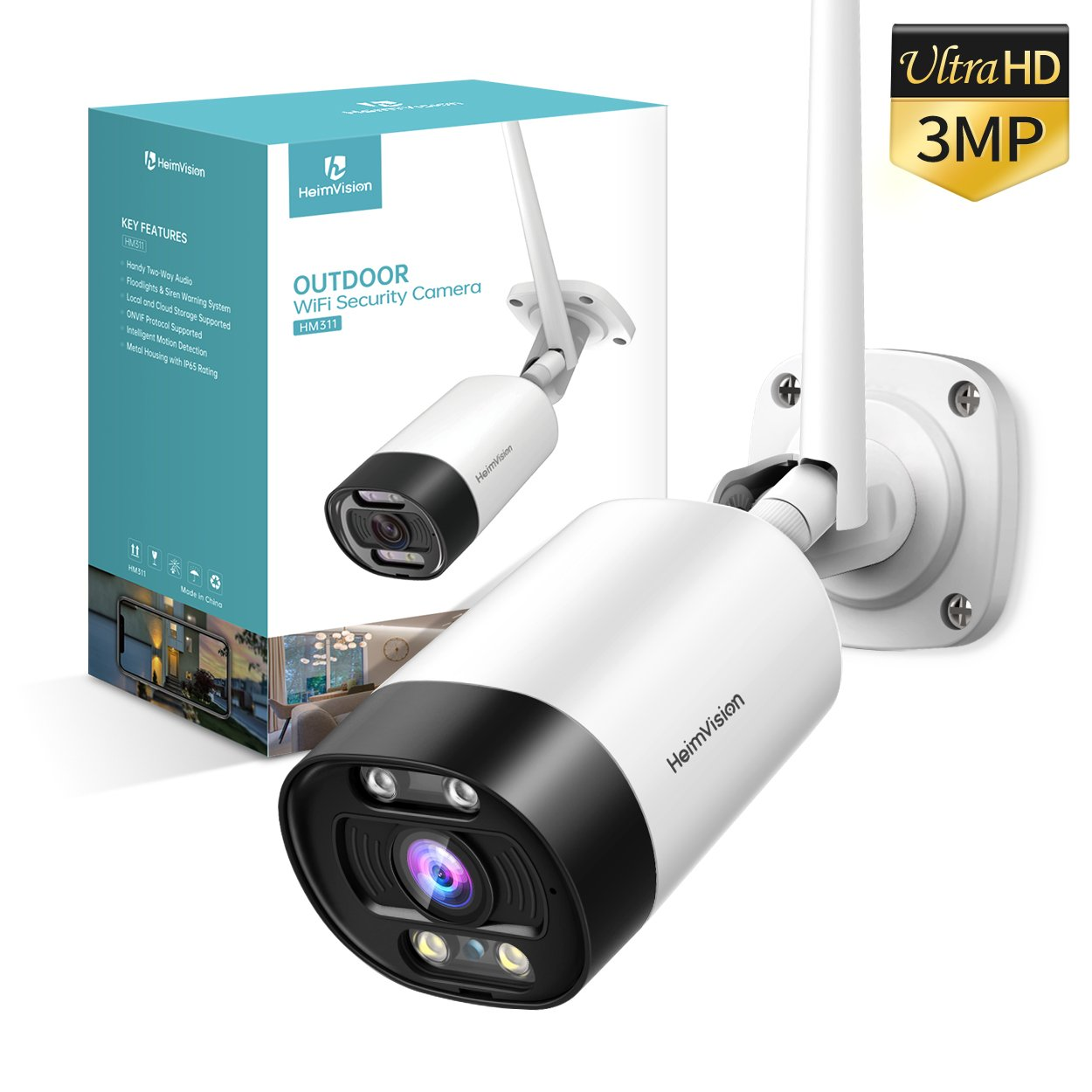 HeimVision HM311 3MP Security Camera with Floodlights