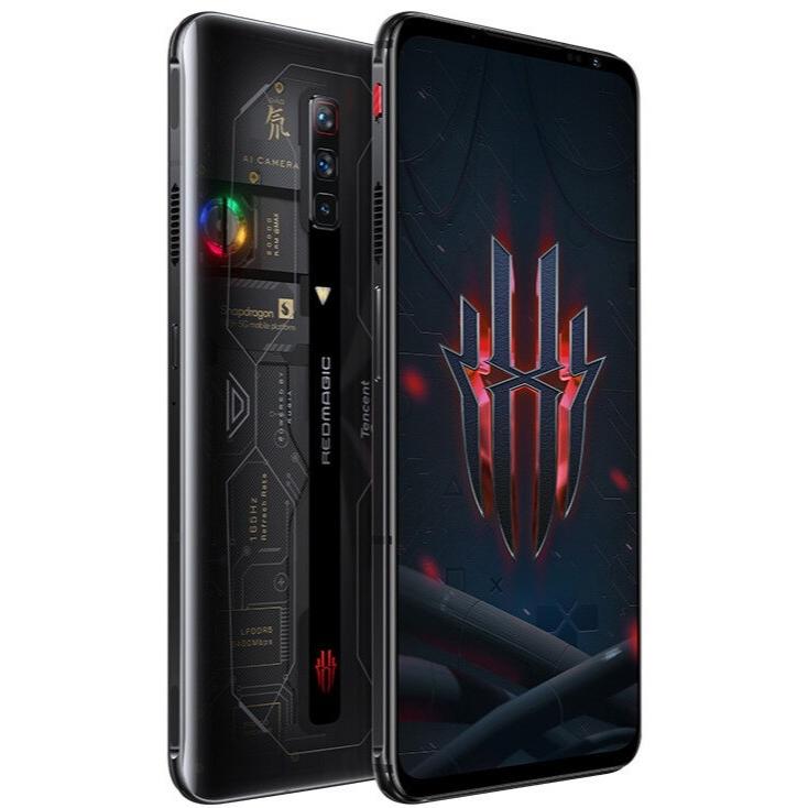 "New Arrival Nubia Red Magic 6S Pro 12GB RAM 256GB Storage Gaming 5G Phone 6.8"" 2400x1080P AMOLED 165Hz Qualcomm SD888 Plus 4500mAh 120W Fast Charging Transparent - CN Version"
