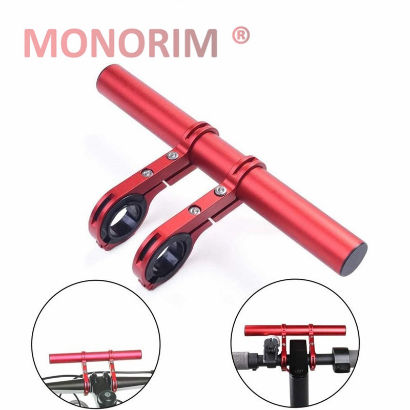 Monorim Scooter Racks Handlebar Extender M365/Pro Scooter ES1 ES2 Electric Scooter Double Extension Mounting Bracket - Red