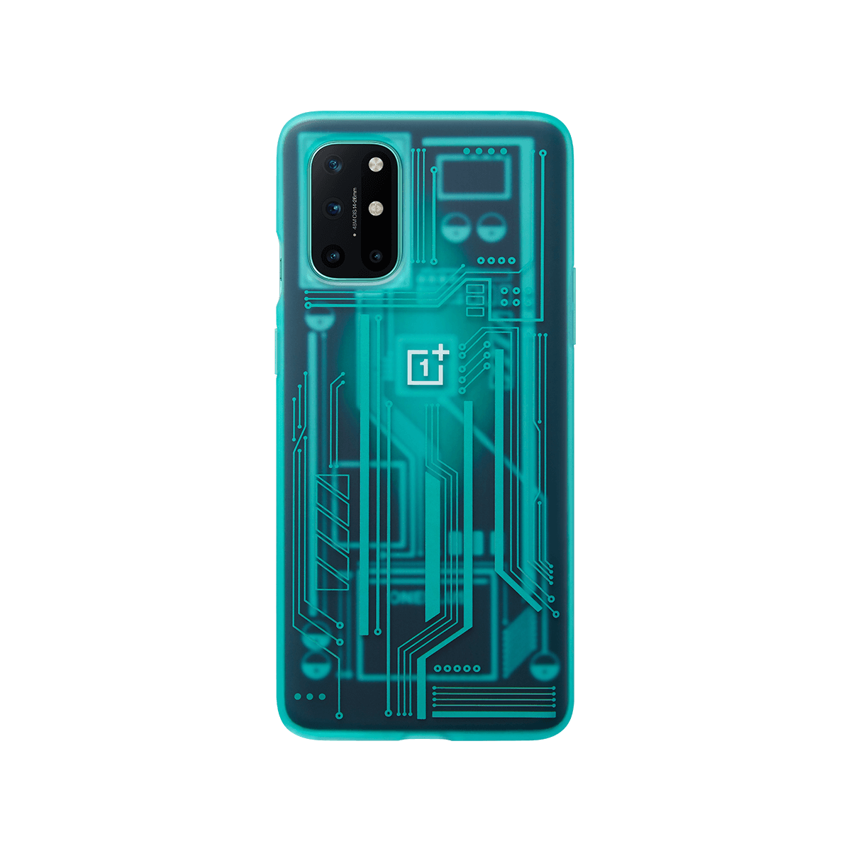 Official Oneplus 8T Case Oneplus Official Protective Cover Karbon Protective Case Quantum Bumper Case Quantum Cyan From OnePlus
