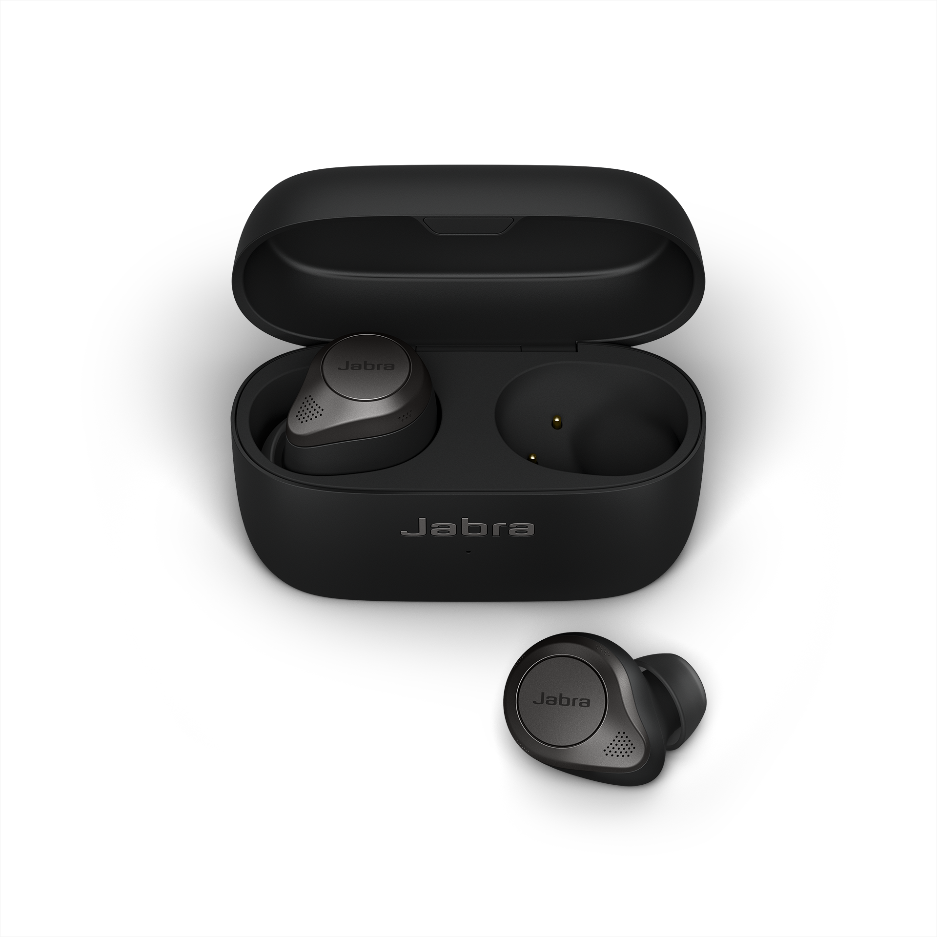 Jabra Elite 85t True Wireless Earbuds - Jabra Advanced Active Noise Cancellation with Long Battery Life and Powerful Speakers - Wireless Charging Case - Titanium Black