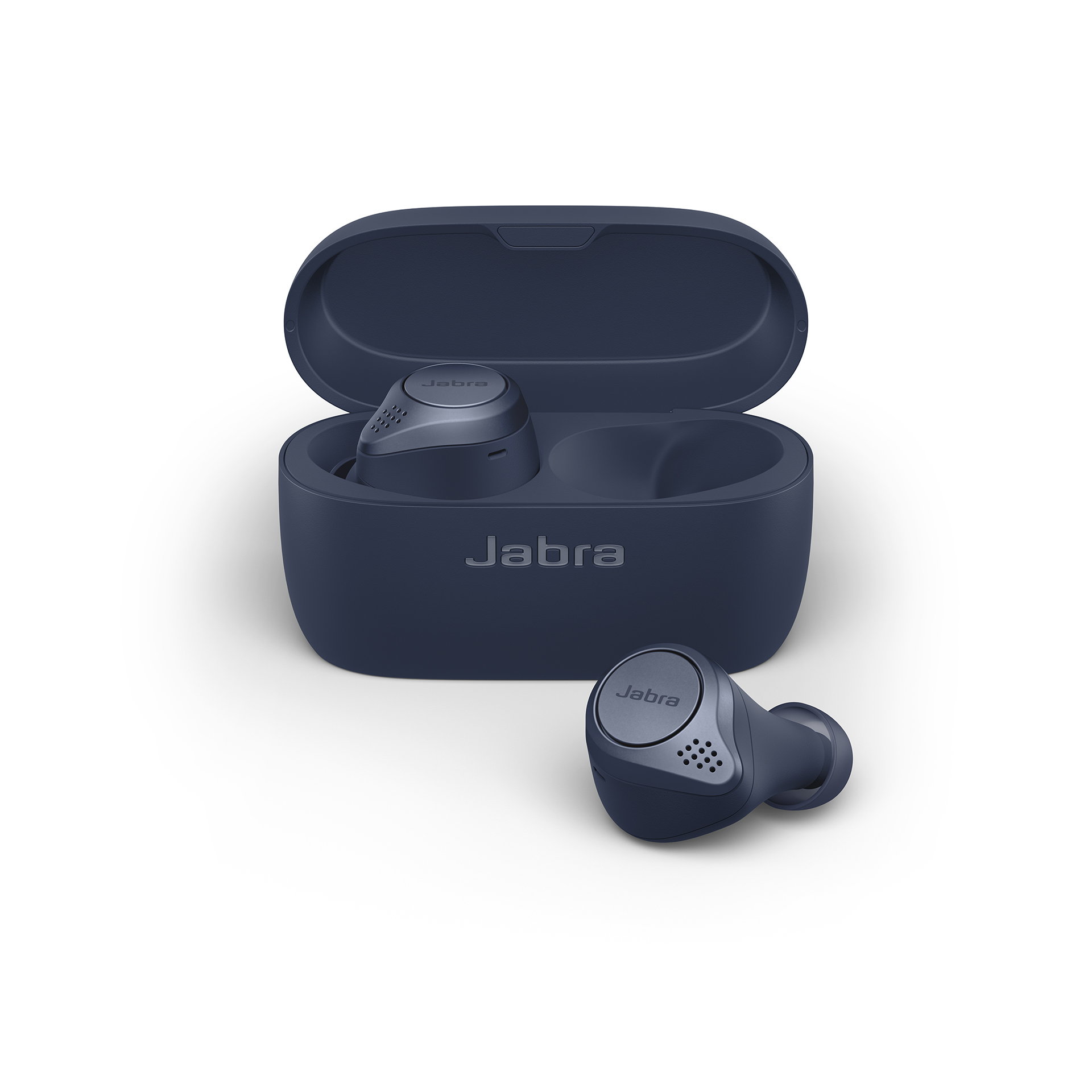 Jabra Elite Active 75t Earbuds – Active Noise Cancelling True Wireless Sports Earphones with Long Battery Life for Calls and Music – Navy