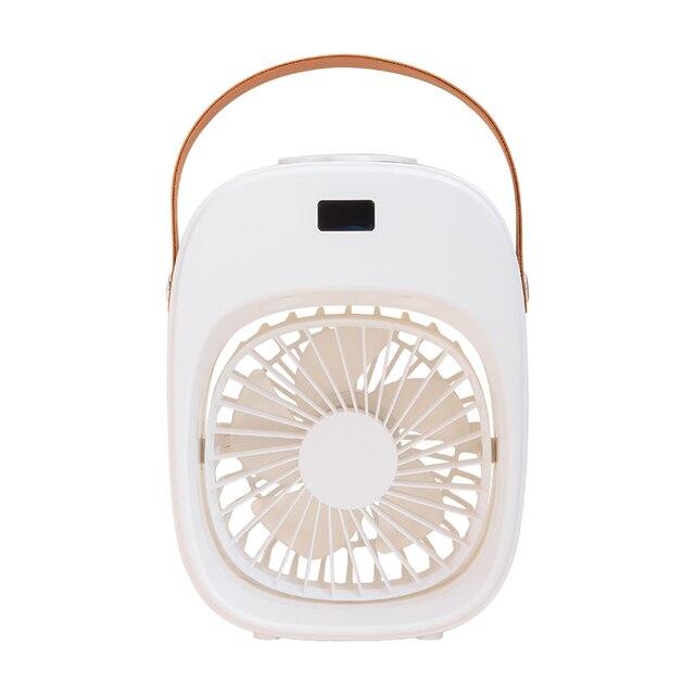Mini Cooling Fan Portable Desktop Small Air Humidification Fan Add Water Spray For Office Bedroom Rechargeable fan - White