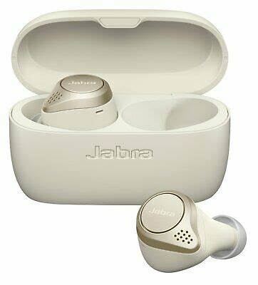 Jabra Elite 75t Earbuds – Active Noise Cancelling Bluetooth Headphones with Long Battery Life for True Wireless Calls and Music – Gold Beige
