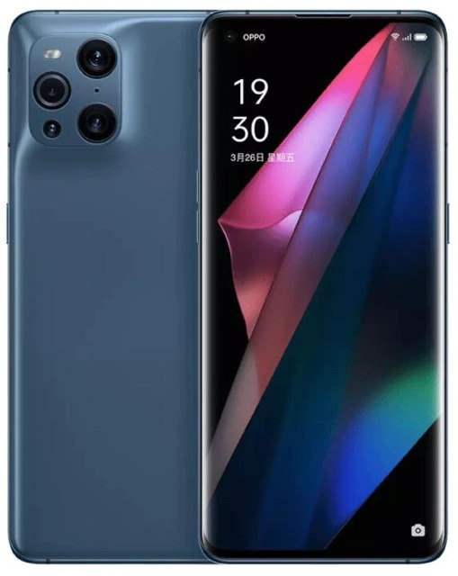 Official New Original OPPO Find X3 Pro 5G Smartphone 6.7inch AMOLED Snapdragon 888 65W SuperVOOC 30W Air VOOC NFC 50.0MP Camera 8GB RAM 256GB Storage Black - CN Version