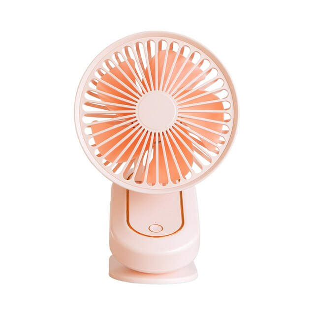 Portable Outdoor Clip-on Fan Rotation head Battery powered For Household Bedroom Outdoor Desktop Ventilation Air cooling Fan - Pink