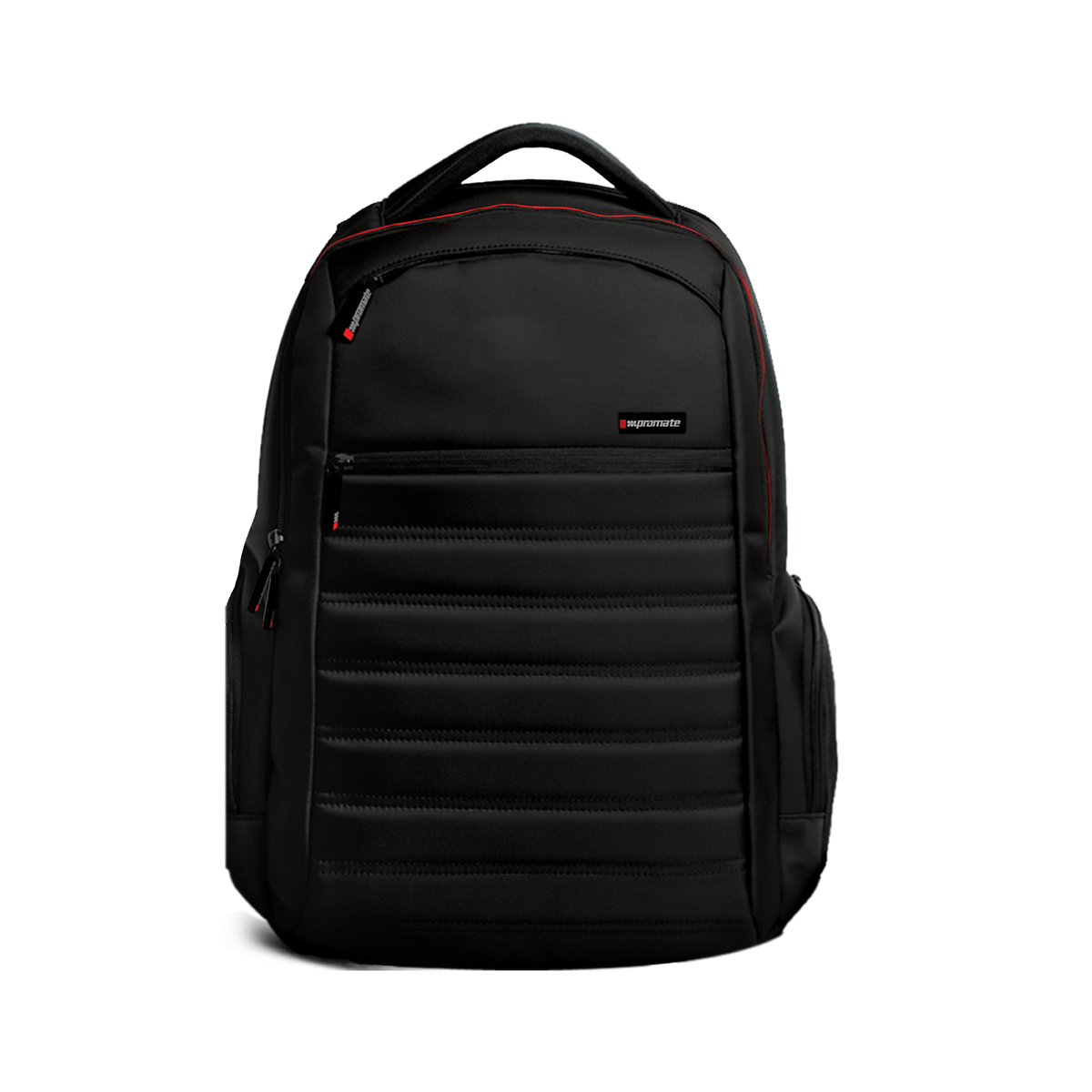 Promate 15.6-inch Laptop Backpack with Spacious Design for 15inch Laptop, Rebel-BP Black