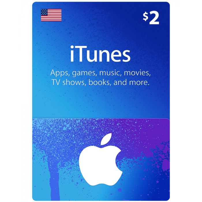 iTunes Gift Card $2 (US) - Physical Delivery