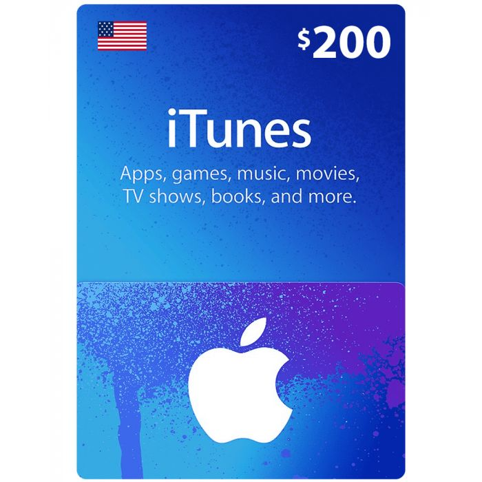 iTunes Gift Card $200 (US) - Physical Delivery