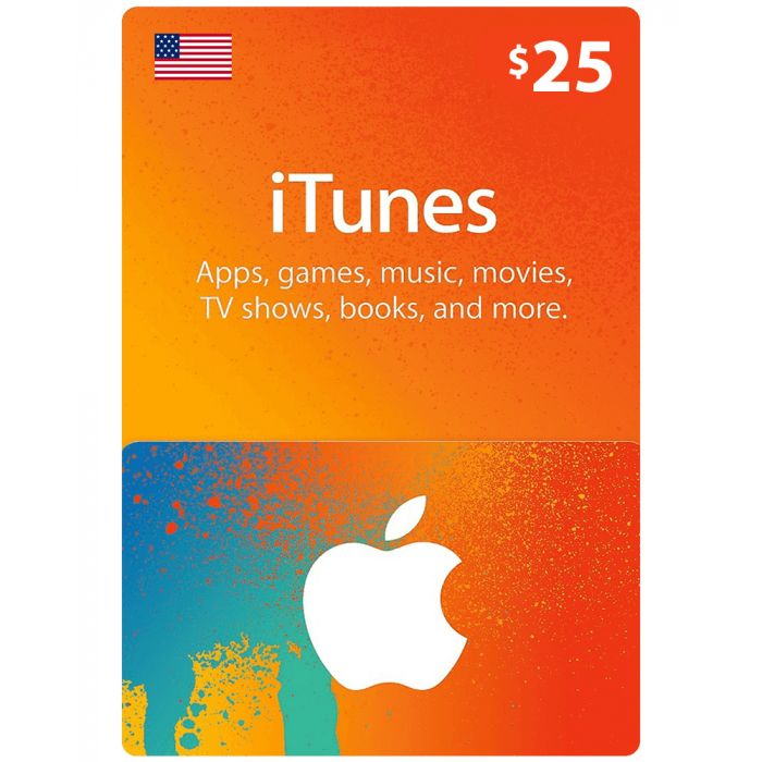 iTunes Gift Card $25 (US) - Physical Delivery