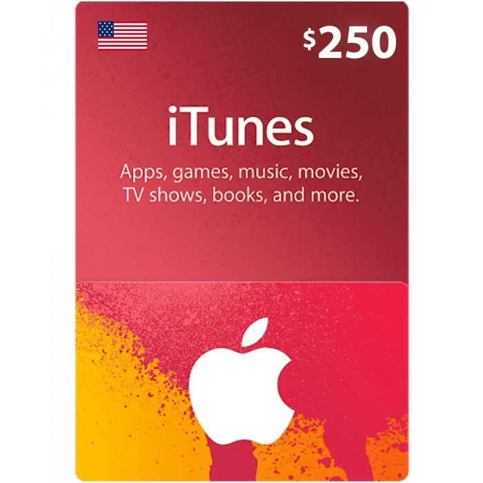 iTunes Gift Card $250 (US) - Physical Delivery