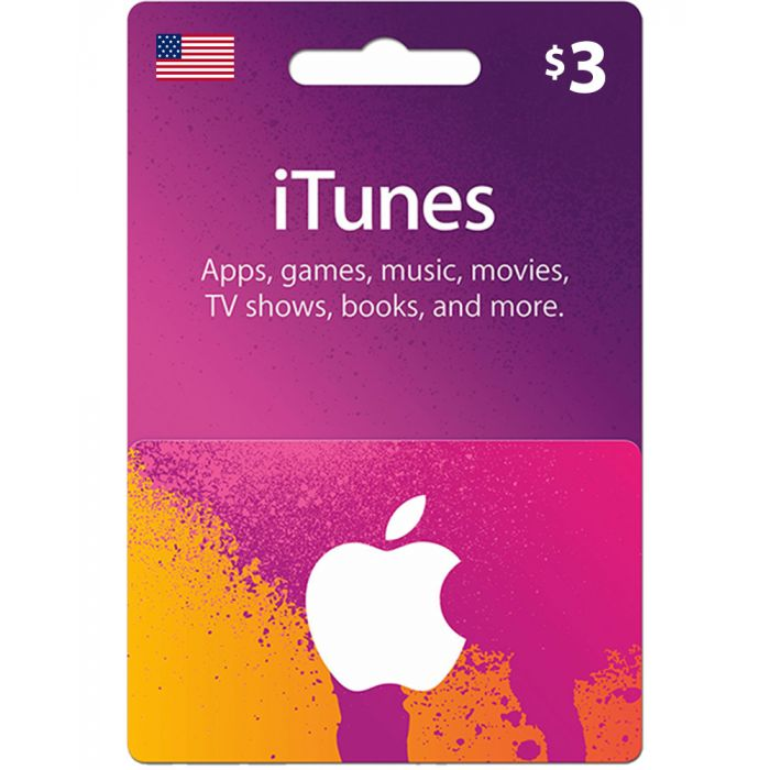 iTunes Gift Card $3 (US) - Physical Delivery