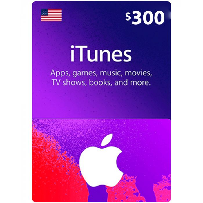 iTunes Gift Card $300 (US) - Physical Delivery