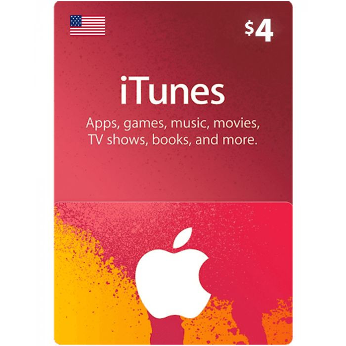 iTunes Gift Card $4 (US) - Physical Delivery