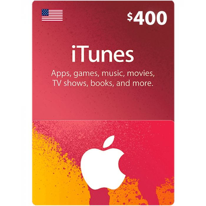 iTunes Gift Card $400 (US) - Physical Delivery