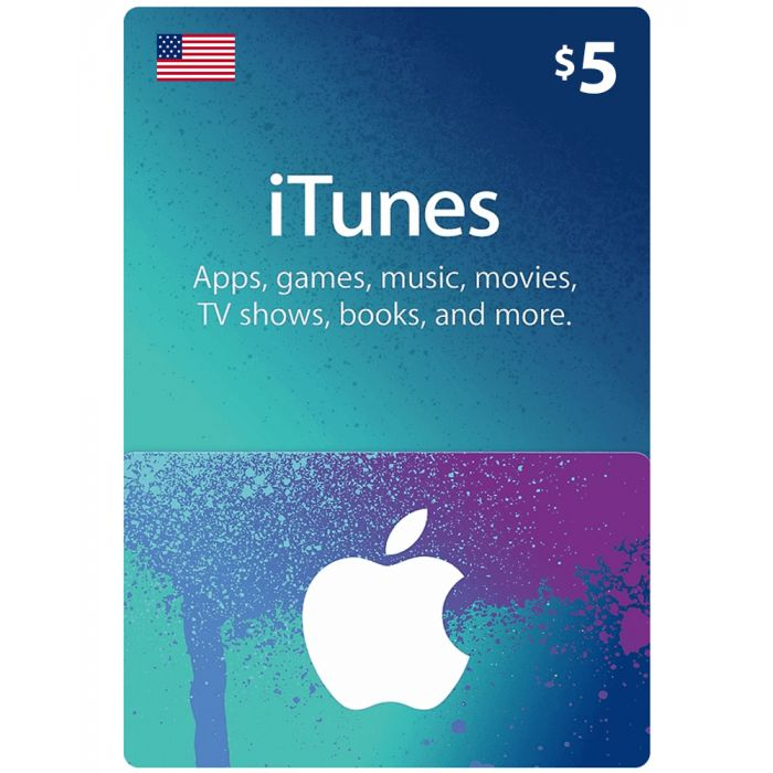 iTunes Gift Card $5 (US) - Physical Delivery
