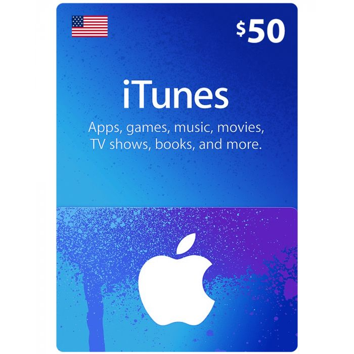 iTunes Gift Card $50 (US) - Physical Delivery