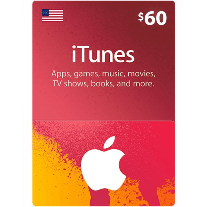 iTunes Gift Card $60 (US) - Physical Delivery