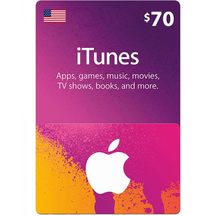 iTunes Gift Card $70 (US) - Physical Delivery