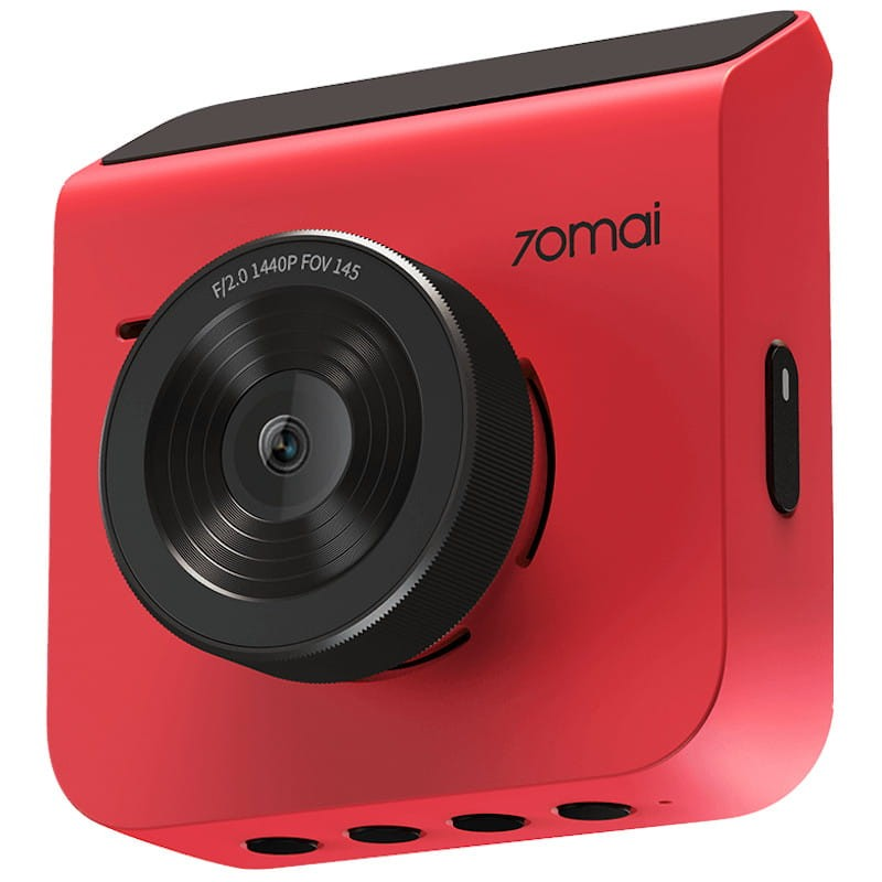 70mai A400 Dual Channel Car Dash Cam, 1440p Front & 1080p Rear, WDR, Night Vision, G-Sensor, App Playback & Share, Optional Parking Monitoring (Red)